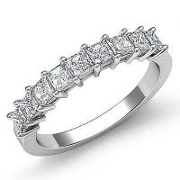 0.63 Ct. Diamond Band Ring With Princess Cut Diamonds