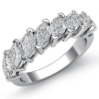 2.00 Ct. Diamond Band Ring With Marquise Shape Diamonds