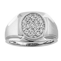 "0.38 Ct. Men""s Diamond Ring With Round Brilliant Diamonds"