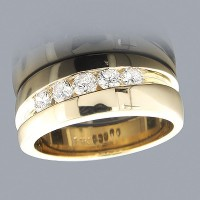 "0.55 Ct. Men""s Diamond Band Ring With Round Brilliant Diamonds"