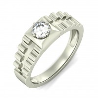 "0.70 Ct. Men""s Solitaire Diamond Ring With Round Brilliant Diamond"