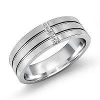 0.16 Ct. Diamond Band Ring With Princess Cut Diamonds