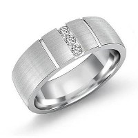 0.30 Ct. Diamond Band Ring With Round Brilliant Diamonds