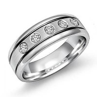 0.50 Ct. Diamond Band Ring With Round Brilliant Diamonds