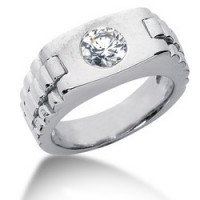"0.80 Ct. Men""s Solitaire Diamond Ring With Round Brilliant Diamond"