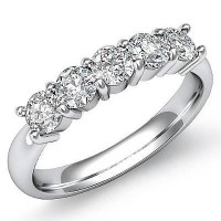 1.00 Ct. Diamond Band Ring With Round Brilliant Diamonds