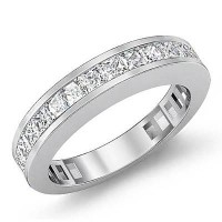 1.20 Ct. Diamond Band Ring With Princess Cut Diamonds