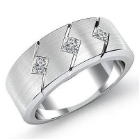 0.45 Ct. Diamond Band Ring With Princess Cut Diamonds