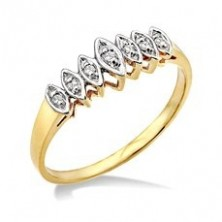 Marquise Shape 7 Diamond Ring