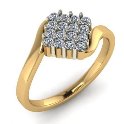 Square Shape Diamond Ring