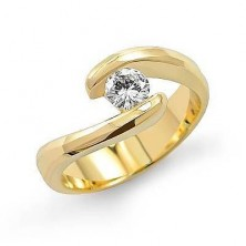 0.80 Ct. Solitaire Diamond Ring With Twisted Band
