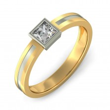 1.00 Ct. Solitaire Diamond Band Ring in Bezel Setting
