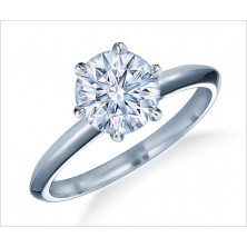 4.00 Ct. Solitaire Diamond Ring in 6 Prong Setting