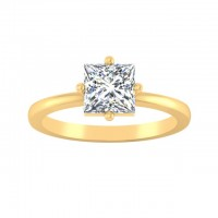 0.90 Ct. Princess Cut Solitaire Diamond Ring in 4 Prong Setting