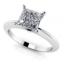 1.00 Ct. Princess Cut Solitaire Diamond Ring in 4 Prong Setting