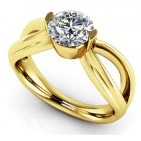 0.90 Ct. Solitaire Diamond Ring in 2 Prong Setting