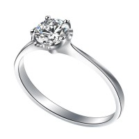 0.80 Ct. Solitaire Diamond Ring in 5 Prong Setting