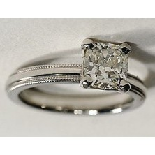 0.70 Ct. Princess Cut Solitaire Diamond Ring in 4 Prong Setting