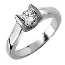 0.40 Ct. Solitaire Diamond Ring in Set in Pressure Setting