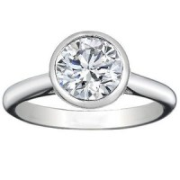 0.80 Ct. Solitaire Diamond Ring in Set in Bezel Setting