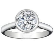 0.90 Ct. Solitaire Diamond Ring in Set in Bezel Setting