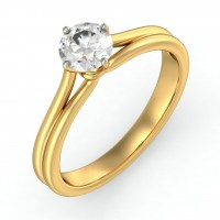 0.66 Ct. Solitaire Diamond Ring in 4 Prong Setting