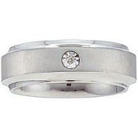 0.20 Ct. Solitaire Diamond Band Ring in Flush Setting