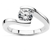0.60 Ct. Solitaire Diamond Ring in Pressure Setting