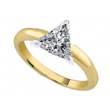 0.70 Ct. Trillion Cut Solitaire Diamond Ring in 3 Prong Setting