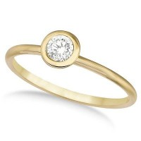 0.20 Ct. Solitaire Diamond Ring in Bezel Setting