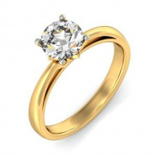 1.03 Ct. Solitaire Diamond Ring in 4 Prong Setting