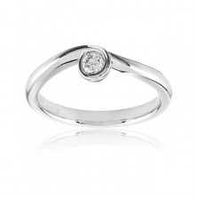 0.30 Ct. Solitaire Diamond Ring in Bezel Setting