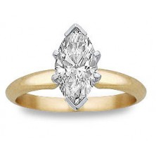 0.60 Ct. Marquise Shape Solitaire Diamond Ring in 6 Prong Setting
