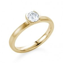 0.70 Ct. Solitaire Diamond Ring in Half Bezel Setting