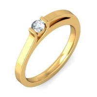 0.40 Ct. Solitaire Diamond Ring in Bar/Channel Setting