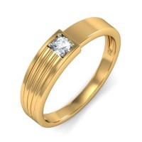 0.20 Ct. Solitaire Diamond Band Ring in 4 Prong Setting