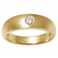 0.30 Ct. Solitaire Diamond Band Ring in Flush Setting