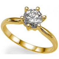 0.20 Ct. Solitaire Diamond Ring in 6 Prong setting