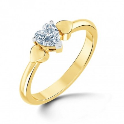 0.60 Ct. Heart Shape Solitaire Diamond Ring in 3 Prong Setting