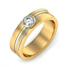 0.80 Ct. Solitaire Diamond Band Ring in Bezel Setting