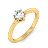 0.70 Ct Solitaire Diamond Ring in 6 Prong Setting