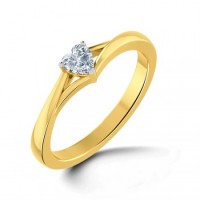 0.50 Ct. Heart Shape Solitaire Diamond Ring in 3 Prong Setting