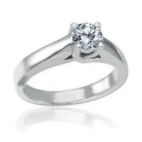 0.74 Ct. Solitaire Diamond Ring in 4 Prong Setting