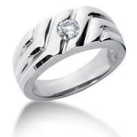 0.50 Ct. Solitaire Diamond Ring in Flush Setting