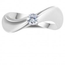 0.30 Ct. Wave Style Solitaire Diamond Ring in 4 Prong Setting