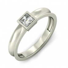 0.65 Ct. Solitaire Diamond Ring in Bezel Setting