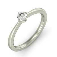0.42 Ct. Solitaire Diamond Ring in 4 Prong Setting