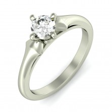 0.63 Ct. Solitaire Diamond Ring in 4 Prong Setting