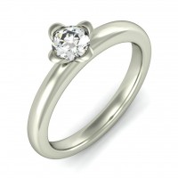 "0.50 Ct. Solitaire Diamond Ring in 4 "" U "" Shape Prong Setting"