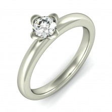 "0.65 Ct. Solitaire Diamond Ring in 4 "" U "" Shape Prong Setting"